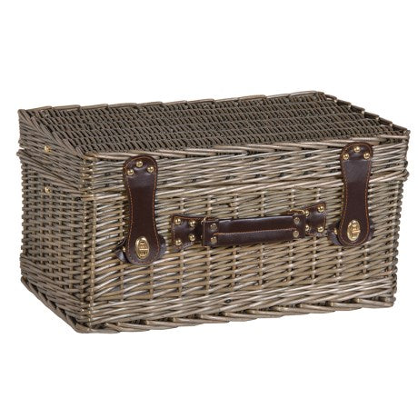 Picnic Hamper With Cool Box crockery cutlery and glasses