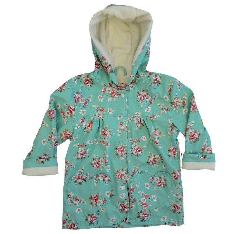 Powell Craft Blue Floral Raincoat front