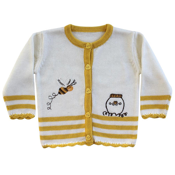 Powell Craft Bumble Bee Knitted Cardigan HKBB6