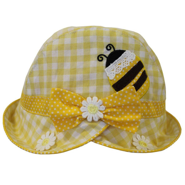 Bumble Bee Yellow Checked Hat