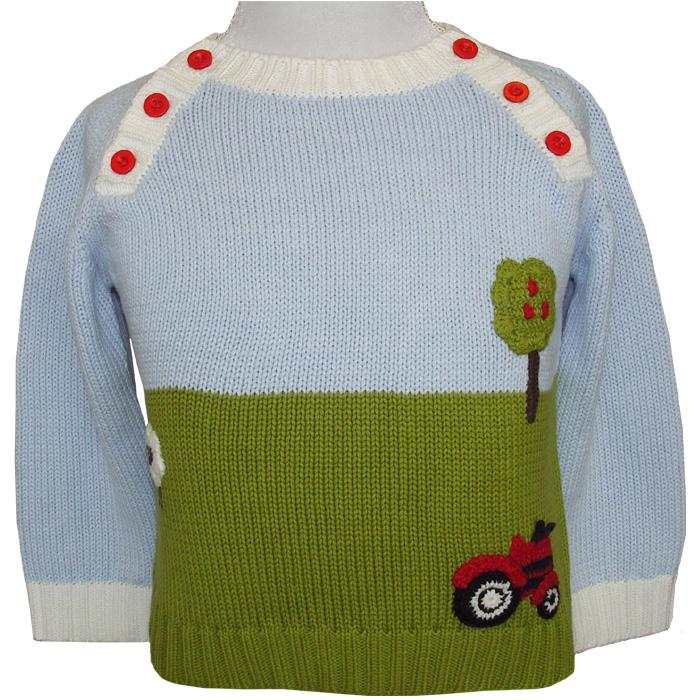 Powell Craft Farmyard Crew Neck Jumper on mannequin