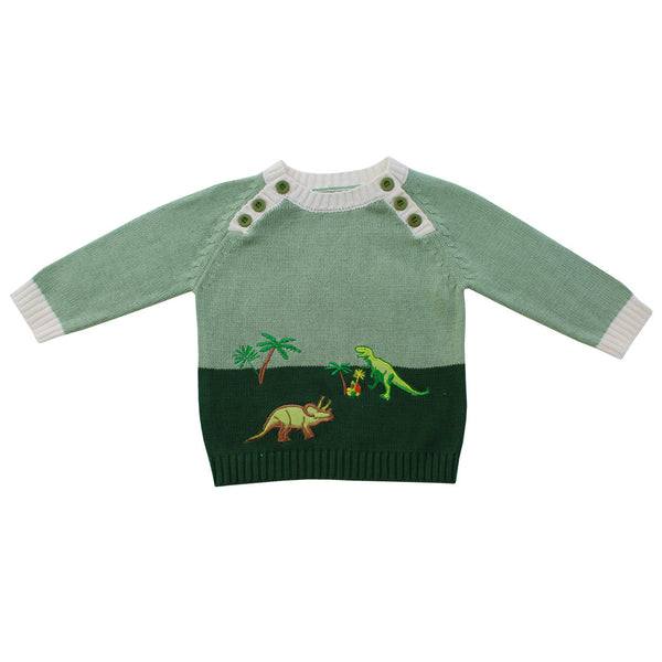 Powell Craft Hand-knitted Dinosaur Jumper from the Old School, Beauly, Inverness-shire