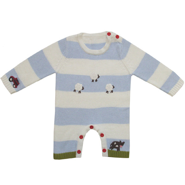 Powell Craft Handknitted Farmyard Longsleeve Jumpsuit
