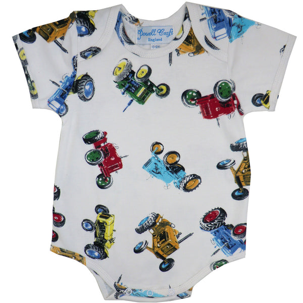 Powell Craft Vintage Tractor Babygrow