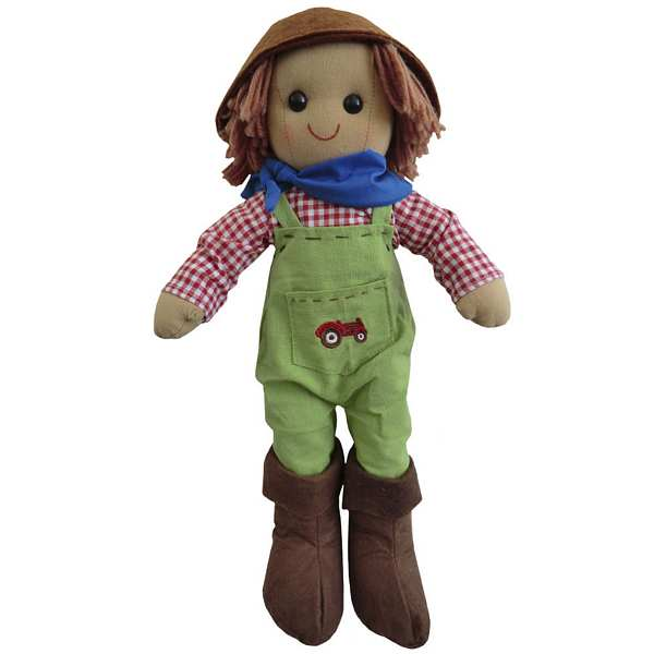 Powell Craft Tractor Farmer Rag Doll