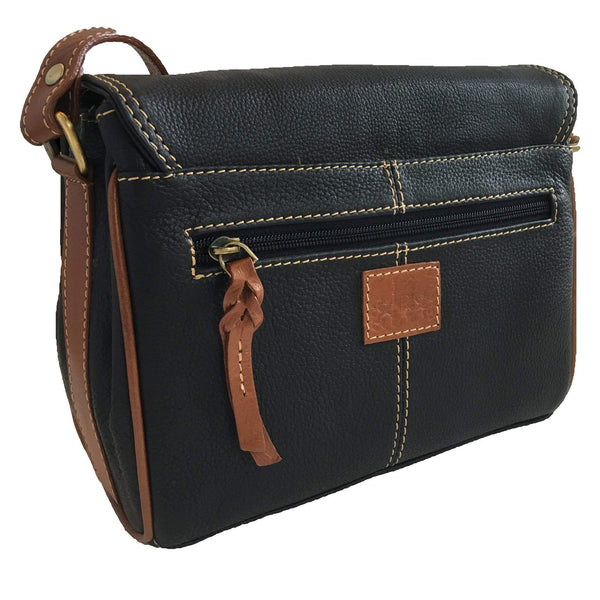 Prelude Half Flap Shoulder Bag Navy back