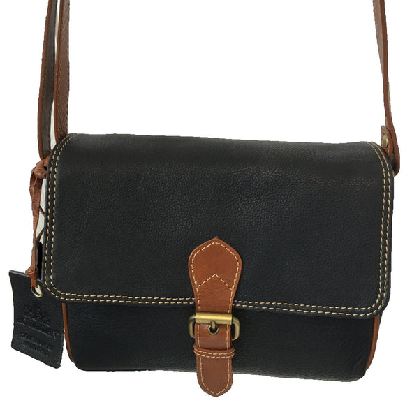 Prelude Half Flap Shoulder Bag Navy