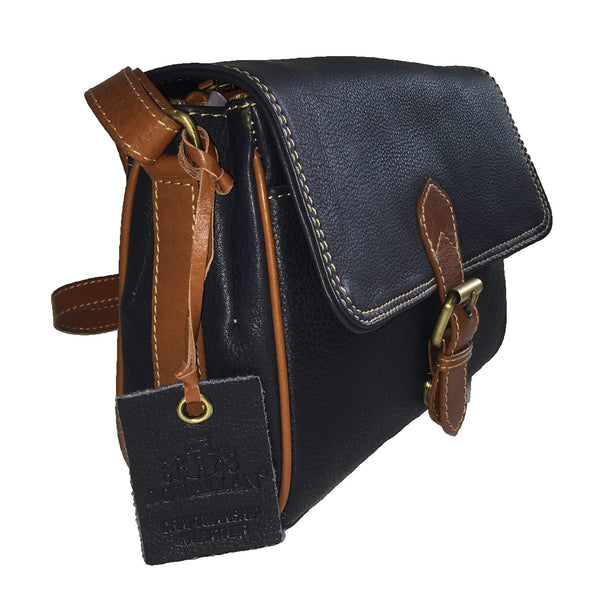 Prelude Half Flap Shoulder Bag Navy side