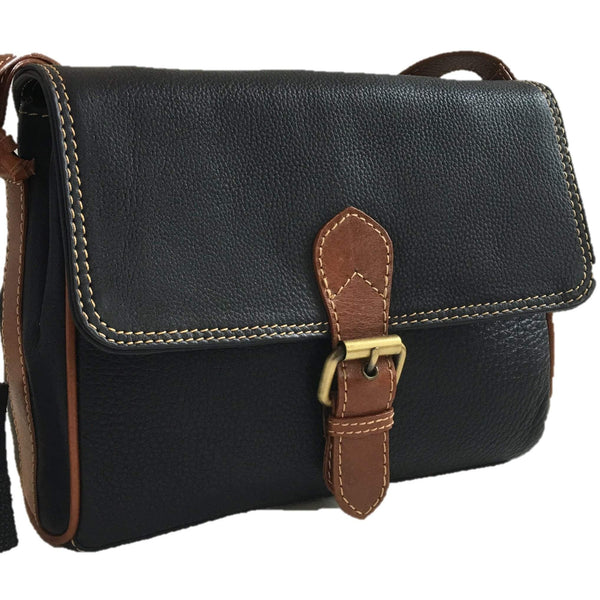 Prelude Half Flap Shoulder Bag Navy front