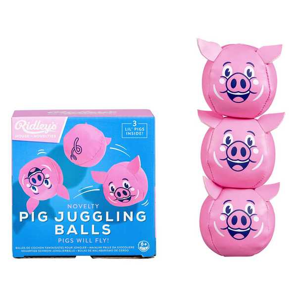 Ridley's Novelty Flying Pig Juggling Balls RID372 with box