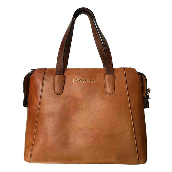 Rowallan Of Scotland Askana Cognac Brown Top Support Handbag front