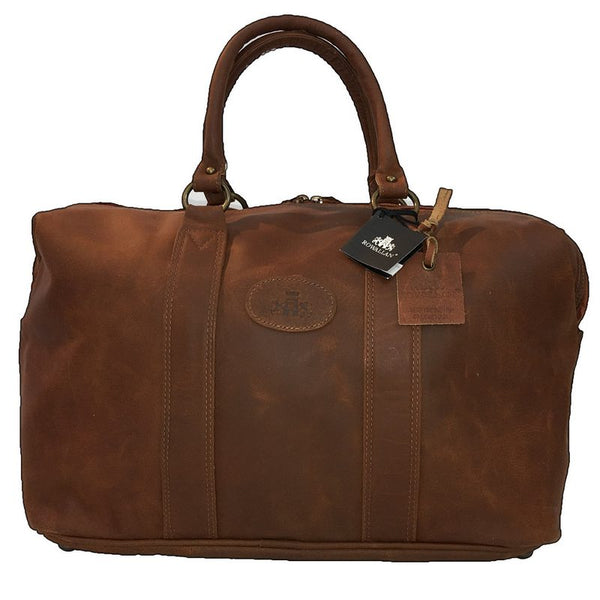 Rowallan Casper Tan Leather Holdall front