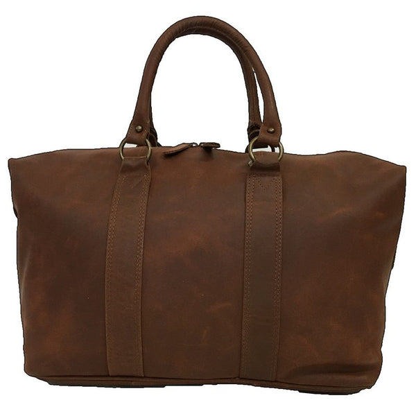 Rowallan Casper Tan Leather Holdall back