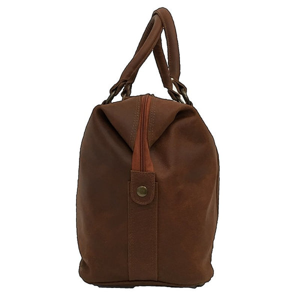 Rowallan Casper Tan Leather Holdall side