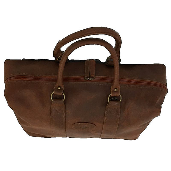 Rowallan Casper Tan Leather Holdall top