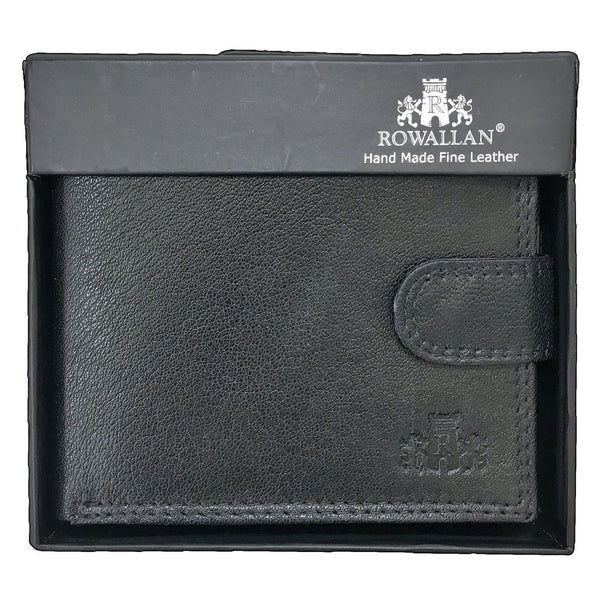Rowallan Honeywood Black Tabbed Standard Wallet in box