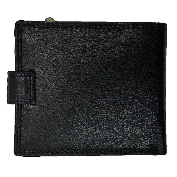 Rowallan Honeywood Black Tabbed Standard Wallet back