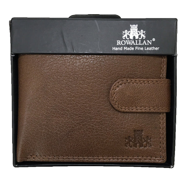 Rowallan Honeywood Tan Tabbed Inner Wallet in box