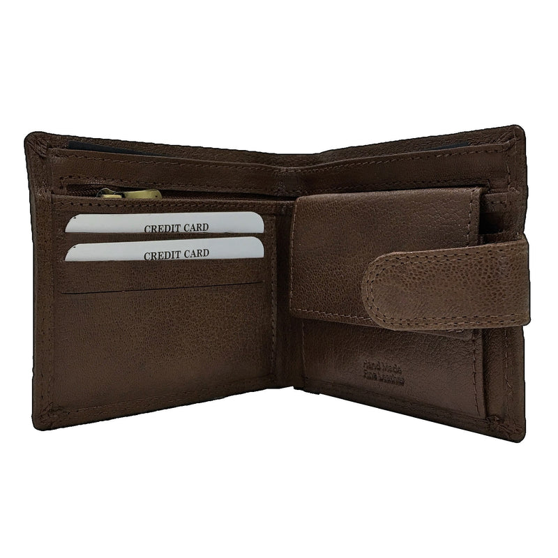 Rowallan Honeywood Tan Tabbed Inner Wallet open