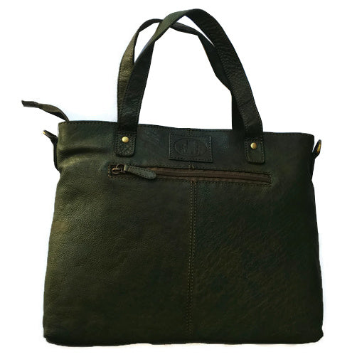 Rowallan Of Scotland Ascoli Green Large Twin Grip Shopper Handbag back