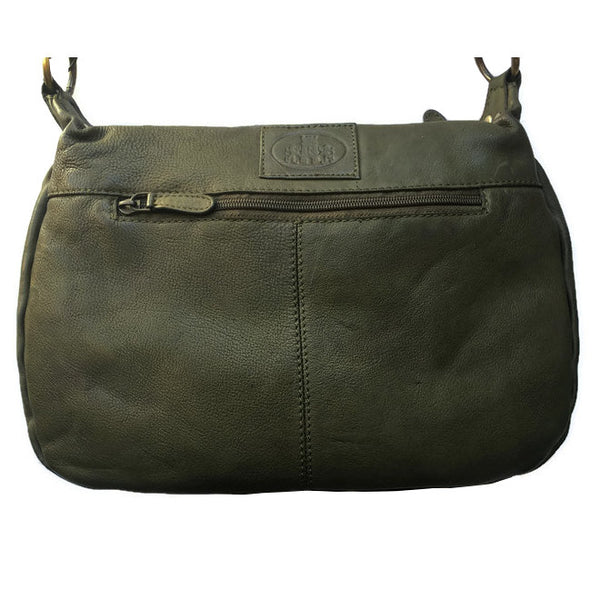Rowallan Of Scotland Ascoli Green Medium Hobo Style Handbag back