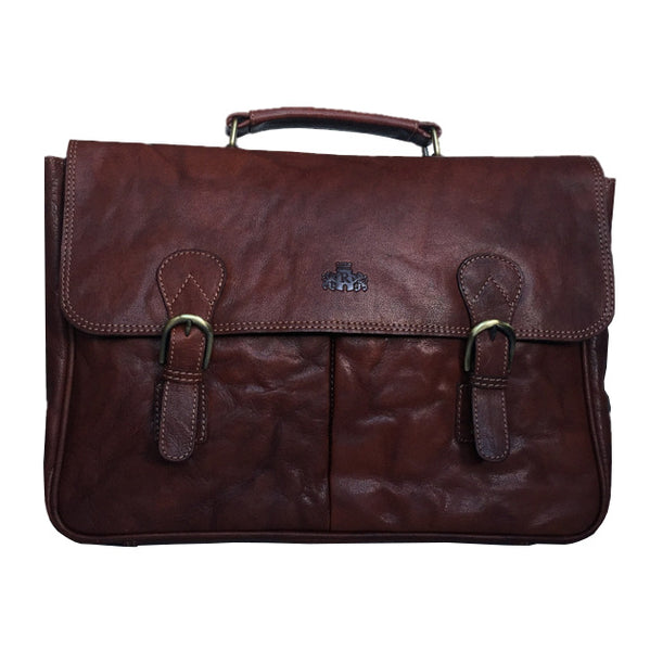 Rowallan Of Scotland Bronco Cognac Briefcase front