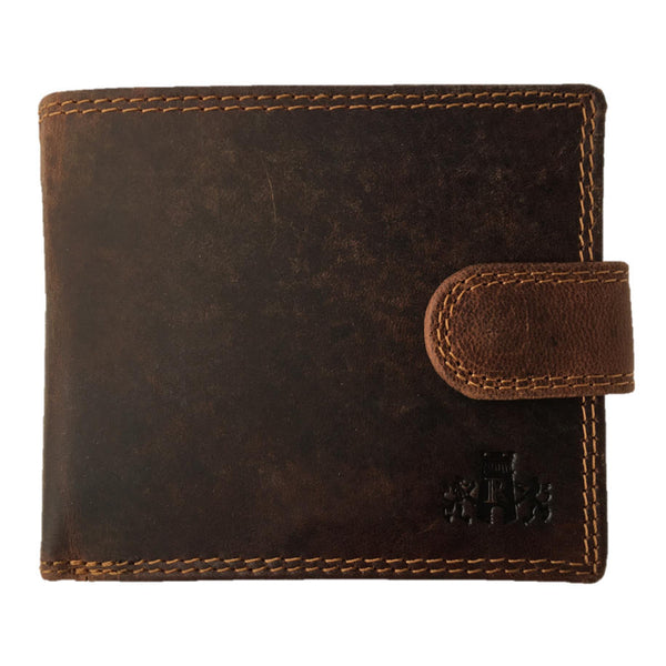 Rowallan Of Scotland Houston Sandal Tabbed RFID Wallet front