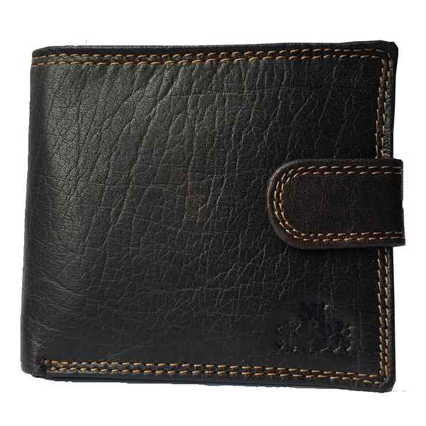 Rowallan Of Scotland Lancaster Brown Tabbed Triple Wallet 33-9808/02 front