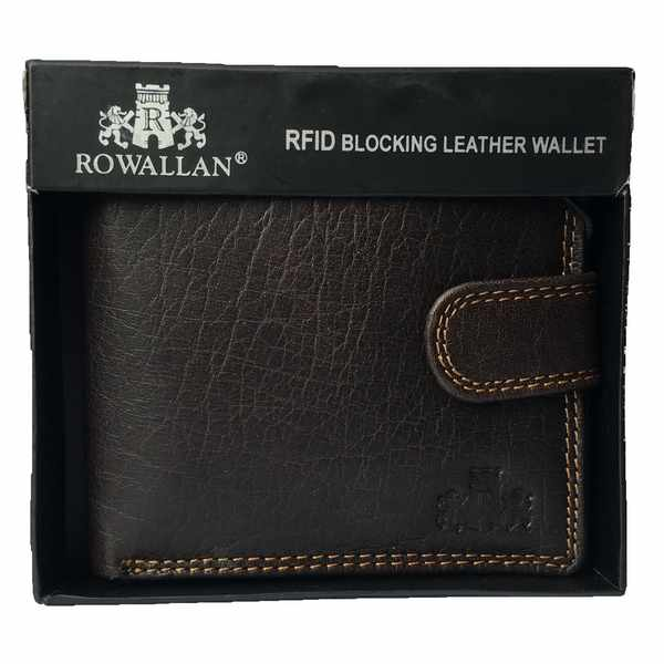 Rowallan Of Scotland Lancaster Brown Tabbed Triple Wallet 33-9808/02 in box
