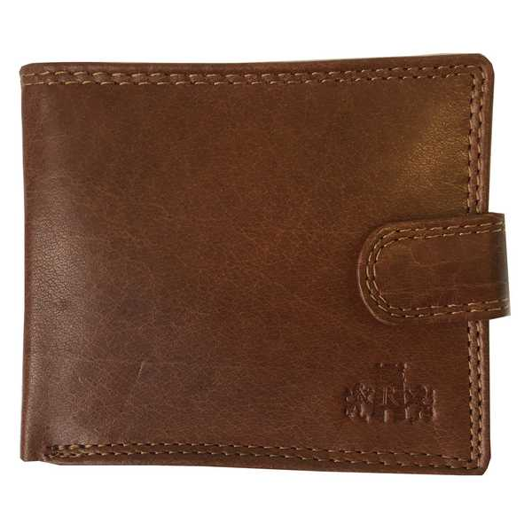 Rowallan Of Scotland Lancaster Tan RFID Flip Up Wallet 33-9810/14 front