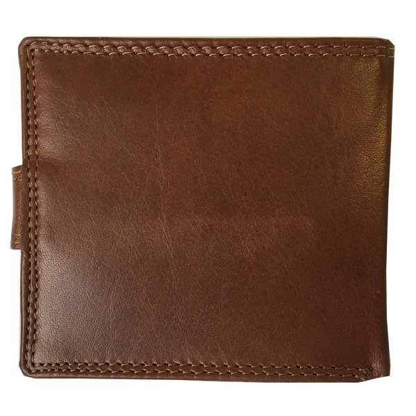 Rowallan Of Scotland Lancaster Tan RFID Triple Wallet back