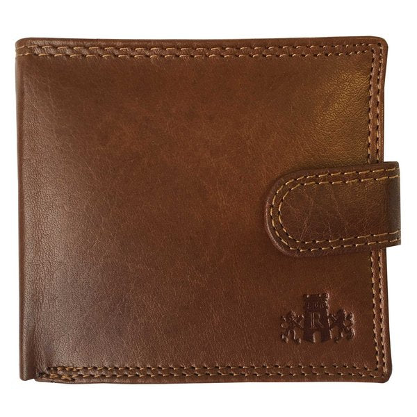 Rowallan Of Scotland Lancaster Tan RFID Triple Wallet front