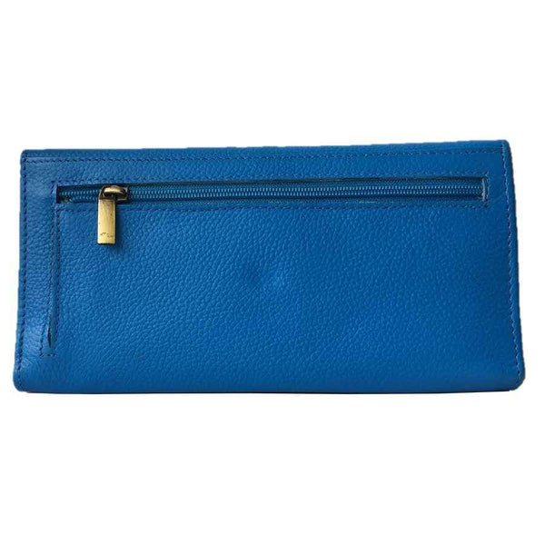 Rowallan Of Scotland Marianne Blue Trifold Purse back