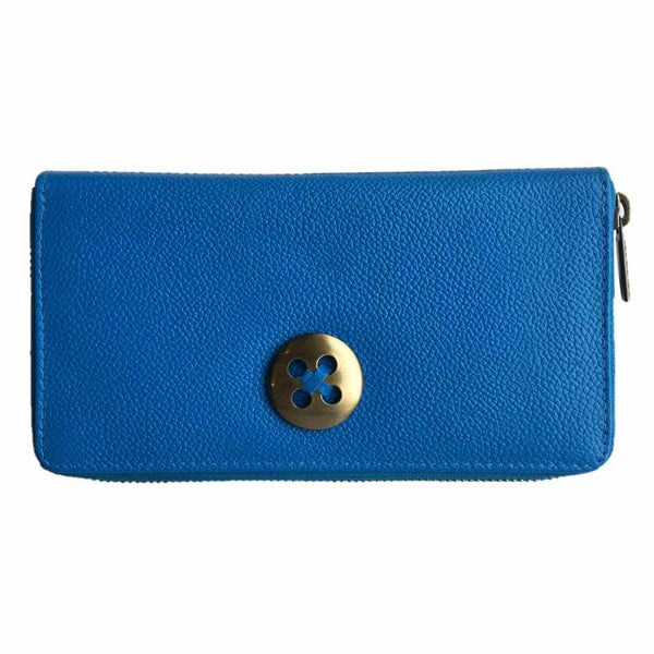 Rowallan Of Scotland Marianne Blue Zip Concertina Purse front