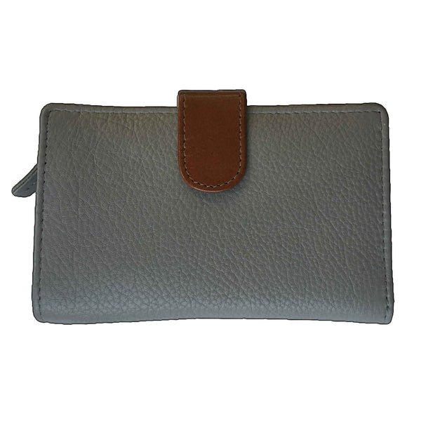 Rowallan Of Scotland Prelude Taupe Tan Tabbed Purse front