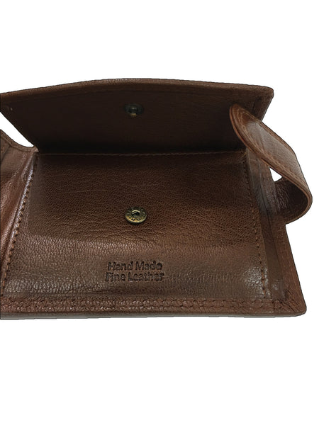 Rowallan Tan Tabbed Coin Pocket Wallet detail