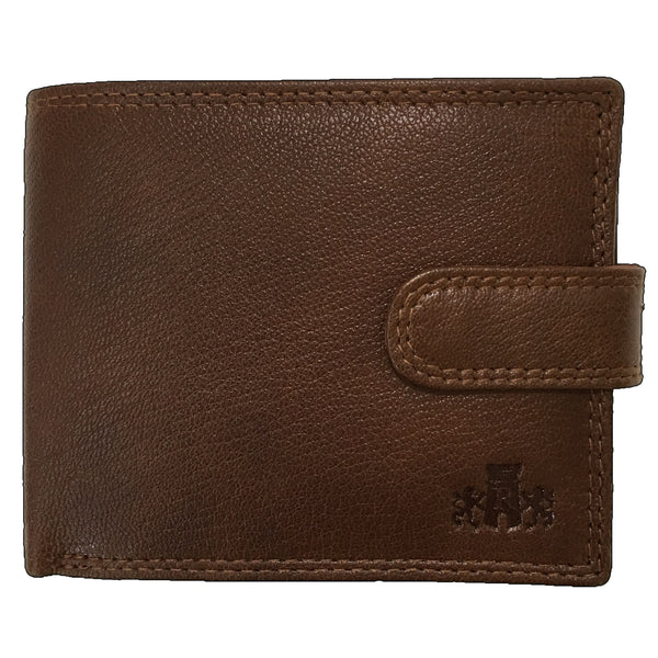 Rowallan Tan Tabbed Coin Pocket Wallet