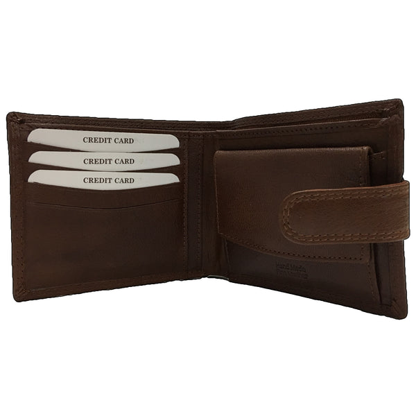 Rowallan Tan Tabbed Coin Pocket Wallet inside