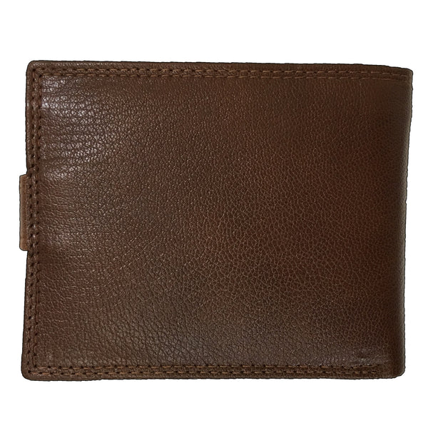 Rowallan Tan Tabbed Coin Pocket Wallet back