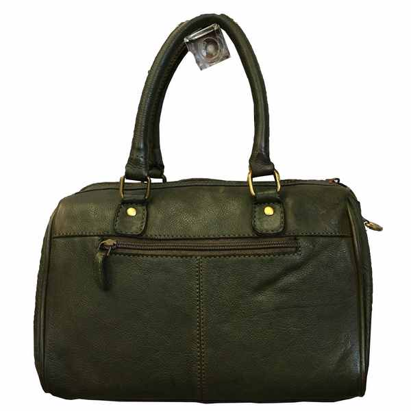 Rowallan of Scotland Ascoli Green Medium Twin Grip Handbag 31-9799-13 back