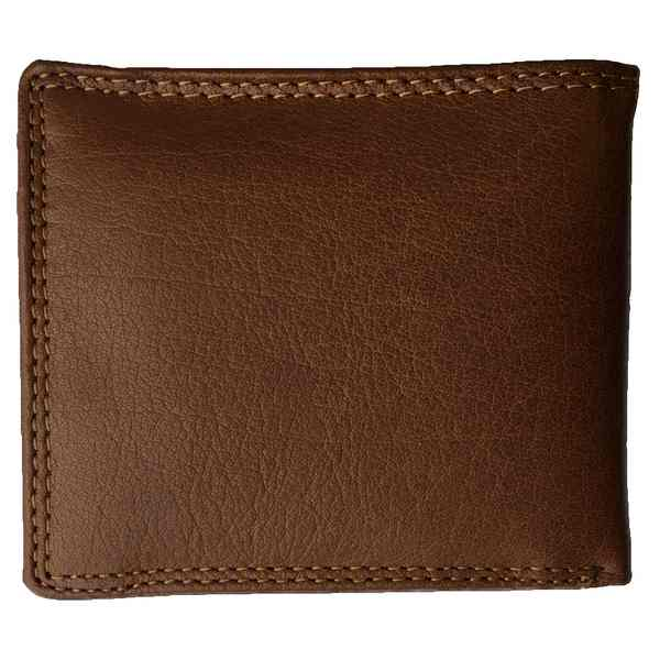 Rowallan of Scotland Lancaster Tan RFID Flip-up Wallet 33-9806-14 back