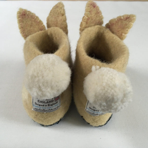 Ruby Rabbit Children's felt slippers tail