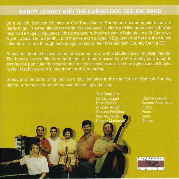 Sandy Legget & The Carseloch Ceilidh Band - Scottish Dances Volume 9 CD inside booklet