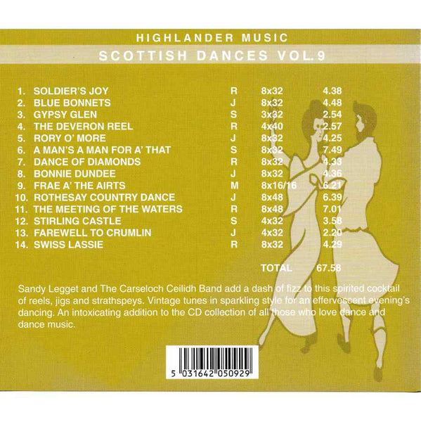 Sandy Legget & The Carseloch Ceilidh Band - Scottish Dances Volume 9 CD track list