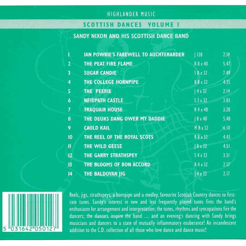 Sandy Nixon & His Scottish Dance Band - Scottish Dances Volume 1 CD track list