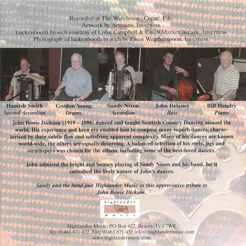 Sandy Nixon & His Scottish Dance Band - The Luckenbooth Brooch CD booklet back