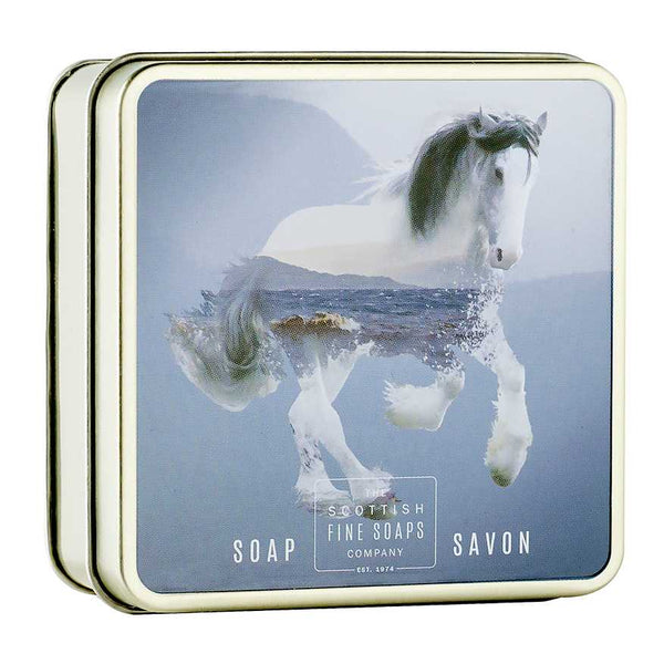 Scottish Fine Soaps Clyesdale Horse Soap In A Tin A01286