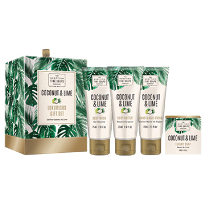 Scottish Fine Soaps - Coconut & Lime Luxurious Gift Set A04201