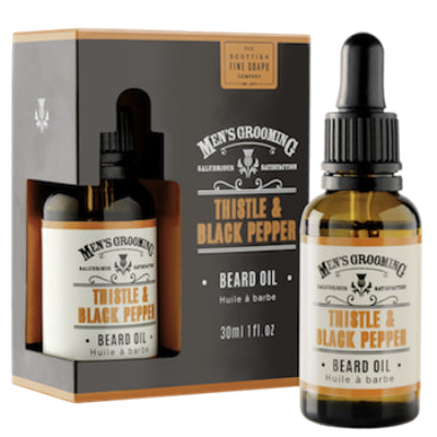 Scottish Fine Soaps Men's Grooming Beard Oil: Thistle & Black Pepper