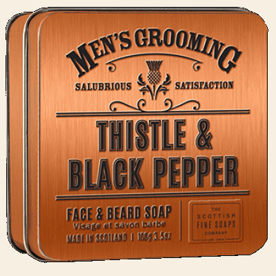 Scottish Fine Soaps Men's Grooming Face & Beard Soap In A Tin